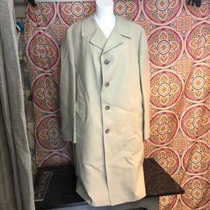 London Fog Khaki Trench Coat Size 46 Long